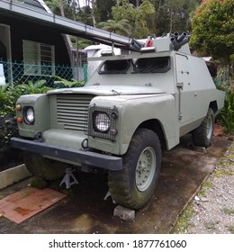 Old Malaysian Royal Army Armored Land Rover
