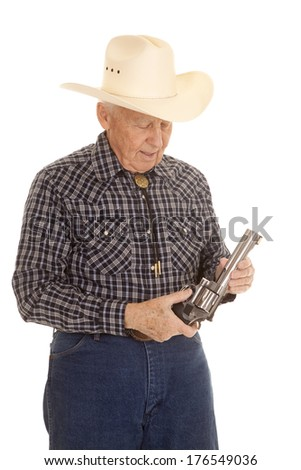 b30c1a494801c Old Man Cowboy Hat Holding Pistol Stock Photo (Edit Now) 176549036 ...