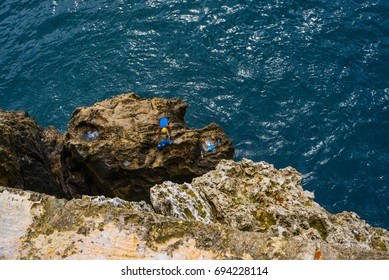 old man fishing in Havana bay