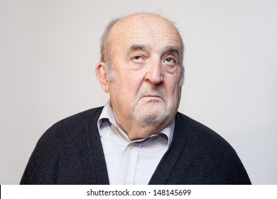 old man looking up