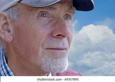 Old man looking into distance