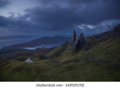 Old man of Storr on the Isle of Skye, Scotland