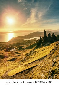 The Old Man of Storr is one of the most photographed wonders in the world. The Isle of Skye, Highlands in Scotland, United Kingdom.