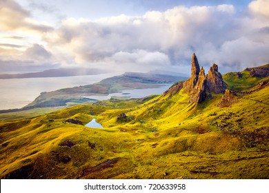 Old Man of Storr rock formation, Isle of Skye, Scotland.