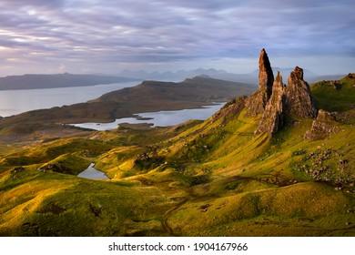 Old Man of Storr sunrise, Isle of Skye, Scotland, UK.