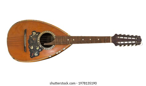 Old mandolin isolated on white background - Shutterstock ID 1978135190