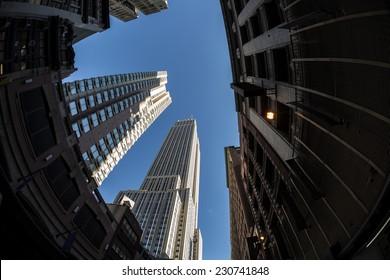 Old Manhattan Skyscrapers-New York City