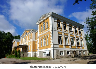 Old manor  in the central  Estonia. Kuremaa.