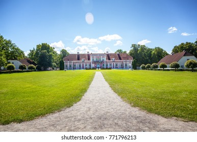 An old manor house in Estonia. Beautiful summer landscape