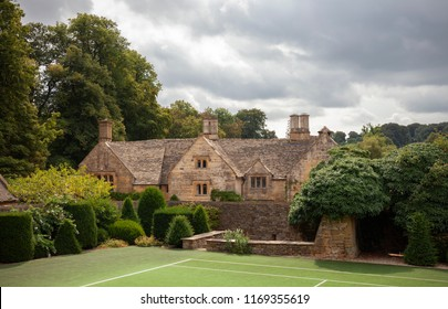 The old Manor house at Temple Guiting, Cotswolds, Gloucestershire, England