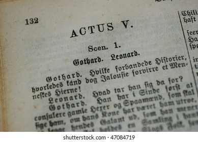 Old manuscript to a danish play by Ludvig Holberg