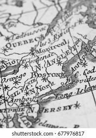 Old Map America · Boston