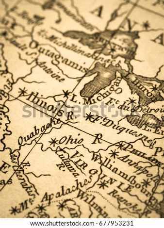 Old Map America East Coast Stock Photo (Edit Now) 677953231 ...