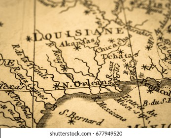 Old map America · New Orleans