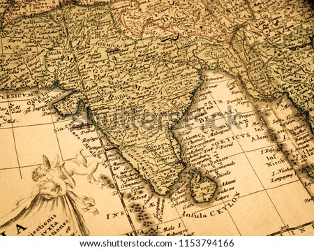 Old Map India Stock Photo Edit Now 1153794166 Shutterstock