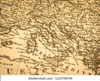 Old map of Italy
