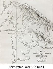 Badlands Nebraska Map.Map Of Nebraska Stock Photos Images Photography Shutterstock