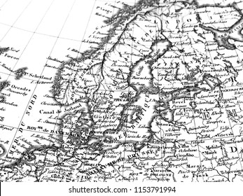 Old Map of Northern Europe