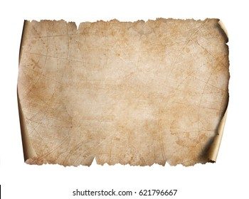Old map on parchment oriented 3d illustration