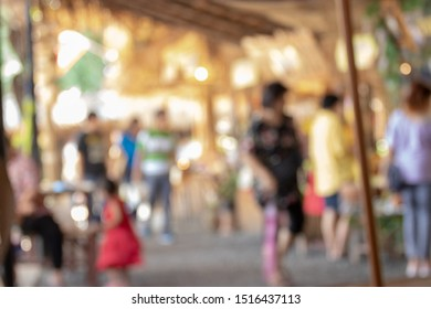 Old market in the community of Thailand focus blur
