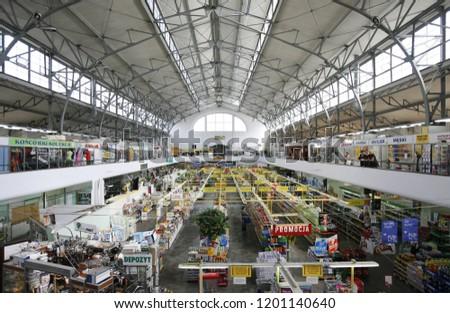 Old Market Hall City Warsaw Poland Stock Photo Edit Now 1201140640