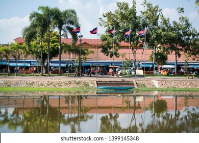the old market of Phsar chas in the city of Siem Reap in northwest of Cambodia.   Siem Reap, Cambodia, November 2018