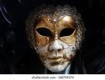 An old mask from venice in italy