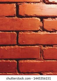 old masonry chimney of red refractory bricks. Saint Petersburg, Russia. 06.07.2019