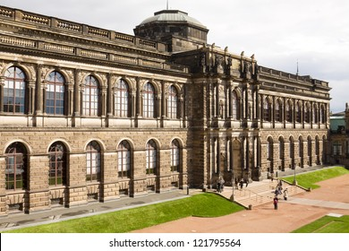 The Old Masters Picture Gallery in Dresden, Germany. The collection of Old Masters is located in the Semper Gallery in Zwinger. The Semper Gallery as seen from the courtyard of the Zwinger