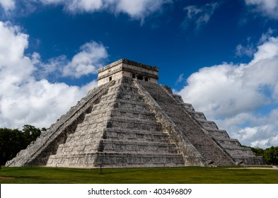 old mayan mexico monument  chichen-itza in cancun