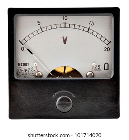 The old measuring device on a white background