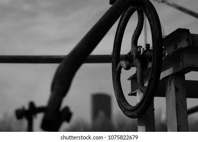 Old mechanic wheel.