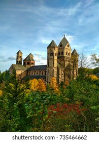 Old medieval benedictine Abbey in Maria Laach, Germany, first founded in 1093