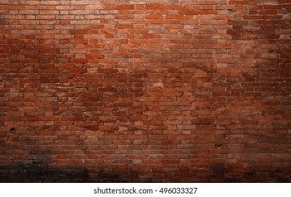 Old medieval brick wall Background, texture