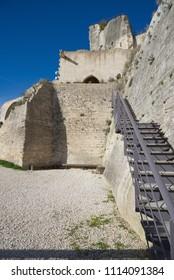 Old medieval city on the rock formation in Les Baux de Provence - Camargue - France
