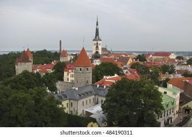 Old Medieval City of Tallinn, Estonia from the Patkuli Viewpoint