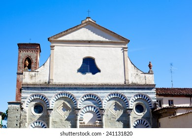 An old medieval roman church in Pistoia