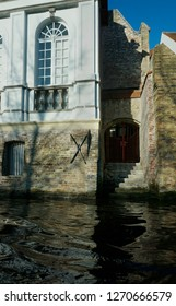 the old medieval section of Bruges, Belgium and canal
