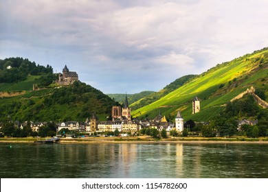 Old medieval town along the Rhine river in Germany
