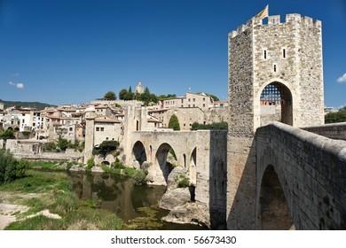 The old medievil town of Besalu, in Catalonia, Spain.