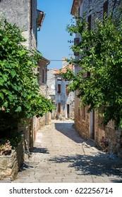 Old Mediterranean sunny street in Croatia