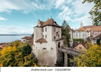 Old Meersburg castle at lake constance in Germany