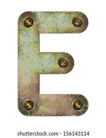 Old metal alphabet letter E