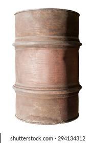 old metal barrel