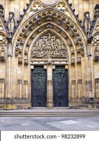 old metal Church Door