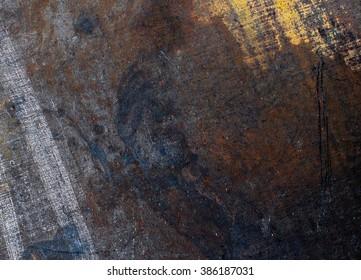 Old metal close-up texture