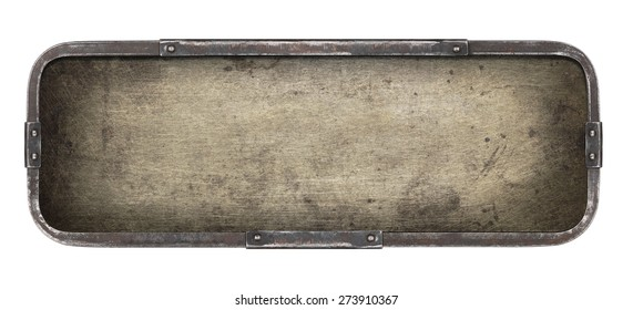 Old metal plate texture. Industrial background.