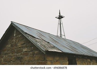 Old metal roof of Abandoned Well House