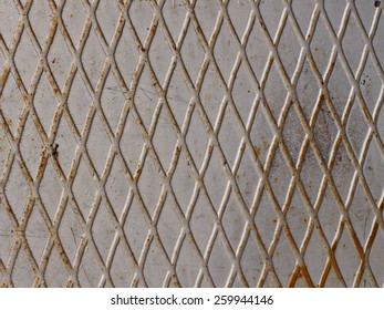 old metal rusty grunge background with grid