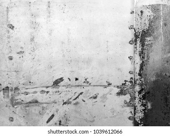 Old metal texture with rivets and worn paint (black and white)